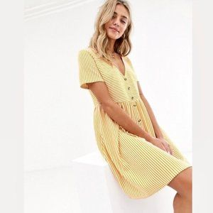 ASOS Mini V-Neck Smocked Dress (6)